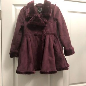 Children's purple winter pea coat